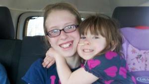 Faith and my niece Julia